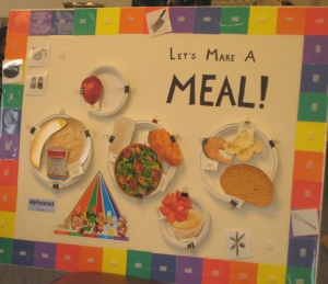 Game board to help teach about good nutrition