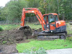 An earthmover in action