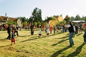 Block party at Sand Point, summer 2008