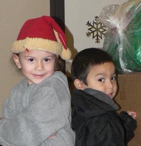 kids & santa hats
