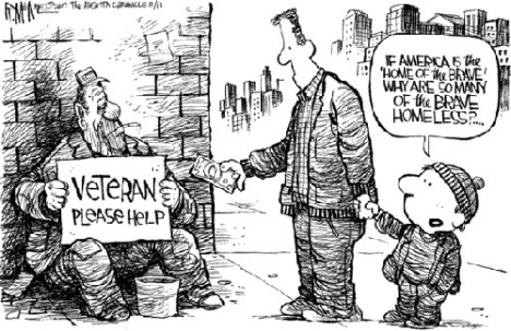 cartoon about homeless vets