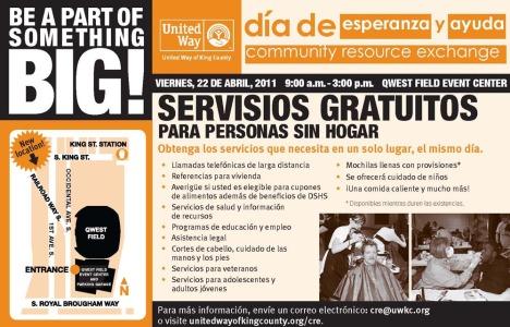 Community Exchange flyer in Spanish