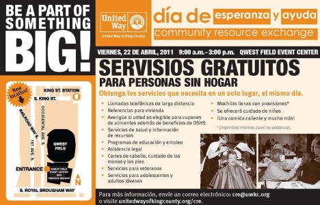 Community Exchange flyer in Spanish