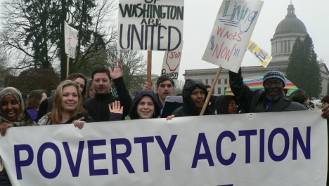 Poverty Action members march & rally on MLK Day 2 (Presidents' Day 2012, as the MLK Day events were snowed out)