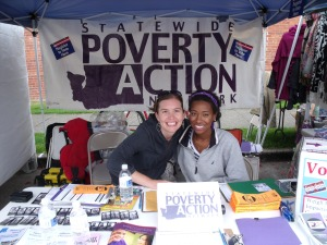 Poverty Action Members register new voters!