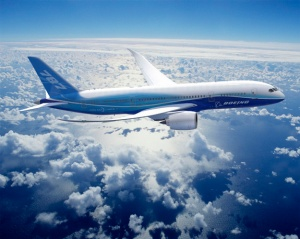 Boeing Dreamliner in flight