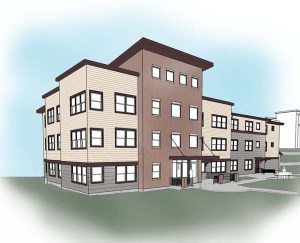 Future home for 15 formerly homeless families