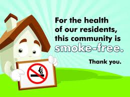 Smoke-free housing sign