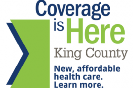 "King County ""Coverage is Here"" logo"