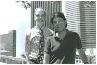 MLK Corps member Mark Santos Johnson and Deputy Mayor Bob Watt, circa 1993