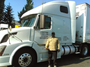 Bruce Perry with his truck