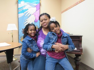 Poverty Action Member, Nacol, and her kids at 2014 MLK Lobby Day