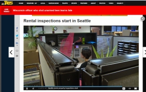 Solid Ground tenant counselor Trish Abbate appears on KING5 news