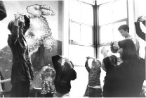 With the move to the N. 45th Building, a mural is painted parent/child playgroups started (1998)