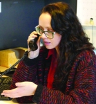 Lead Benefits Attorney Stephanie Earhart consults with a client